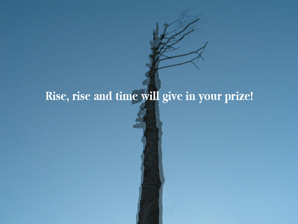 Rise, rise and time will give in your prize!